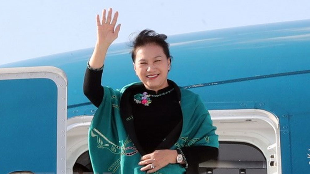 Chủ tịch Quốc hội Nguyễn Thị Kim Ngân lên đường thăm chính thức Liên bang Nga và Cộng hòa Belarus